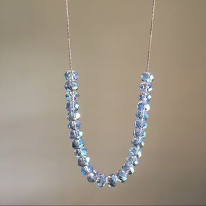 Old Navy mint beaded necklace